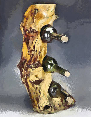 Wine Rack A Piece Of Wood Poster