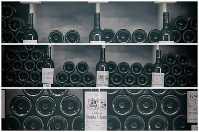 Wine Shelf Collage Poster