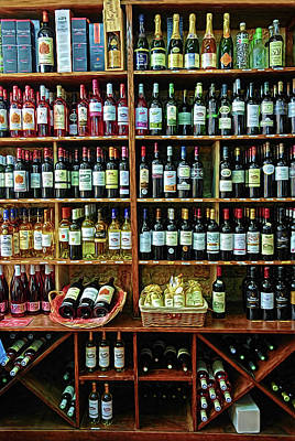 Poster featuring the photograph Wine Store Provence France by Dave Mills
