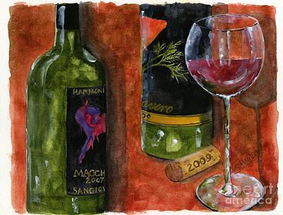 Wine Tasting Poster by Sheryl Heatherly Hawkins
