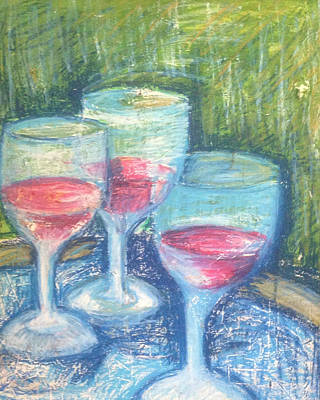 Wine Trio Poster by Rosemary Bingay