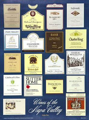 Wines Of The Napa Valley - Series 2 Poster by J Michael Orr