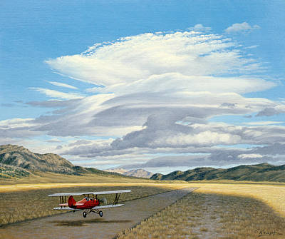 Winged Dreams -travelaire Biplane Poster by Paul Krapf