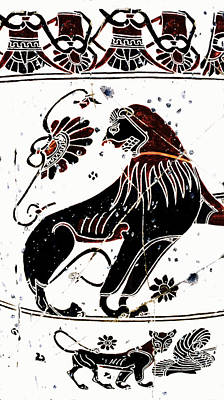 Winged Lion - Detail No. 1 Poster by Steve Bogdanoff