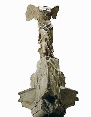 Wingel Victory Of Samothrace Or Nike Poster by Everett
