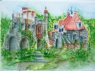 Wings Castle Poster by Elaine Duras