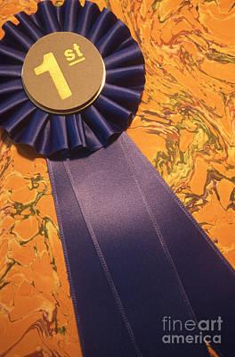Winners Blue Ribbon Poster by Eunice Harris