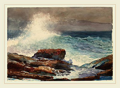 Winslow Homer American, 1836-1910, Incoming Tide Poster