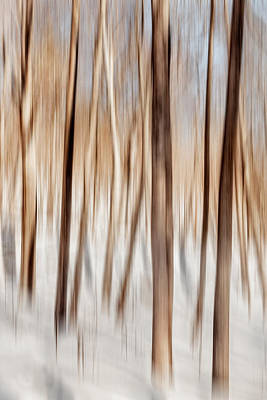 Winter Abstract Poster by Bill Wakeley