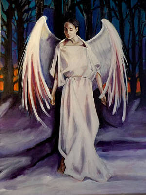 Poster featuring the painting Winter Angel by Irena Mohr
