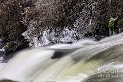 Winter At Dillon Falls Poster