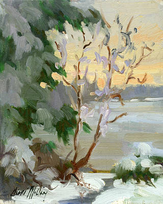 Winter At Martha Lake Poster by Diane McClary