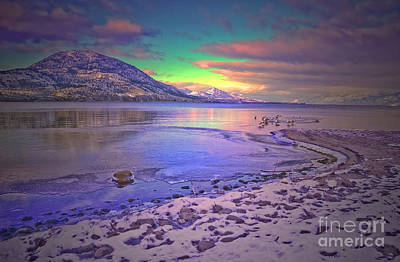 Winter At Okanagan Lake Poster