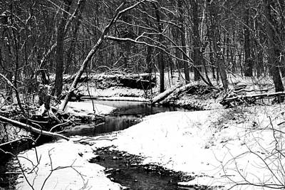 Poster featuring the photograph Winter At Pedelo Black And White by Deena Stoddard