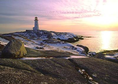 Winter At Peggy's Cove Poster