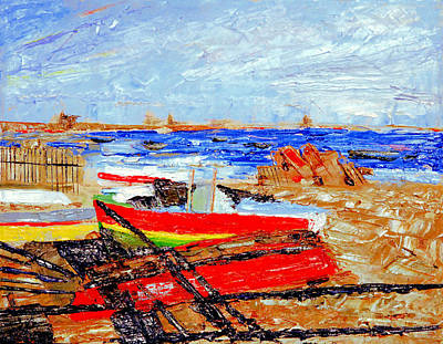 Poster featuring the painting Winter At Provincetown by Michael Daniels