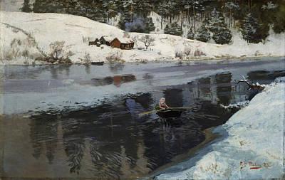 Winter At The River Simoa Poster