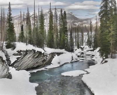 Winter At Verdant Creek Poster