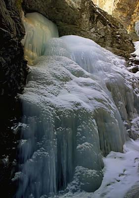 Winter At Zapata Falls Poster
