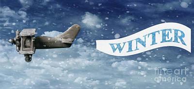 Winter Banner Poster by Amanda Elwell
