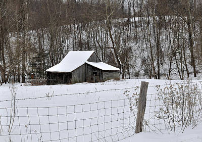 Winter Barn 2 Poster by Todd Hostetter