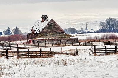 Winter Barn Poster by Mary Jo Allen