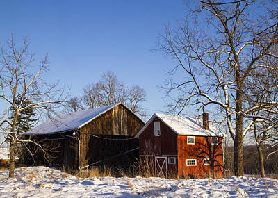 Winter Barns  Poster by Tim Fitzwater