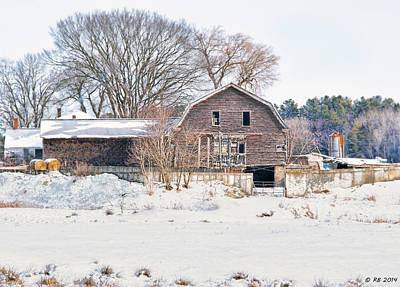 Winter Behind The Barn Poster