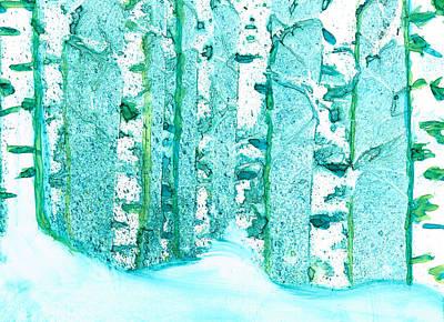 Winter Birch 2 Poster