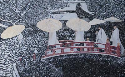 Winter Bridge Of Japan Poster