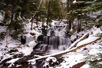 Winter Cascade Poster