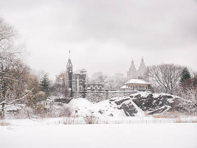 Winter Castle - Central Park - New York City Poster by Vivienne Gucwa