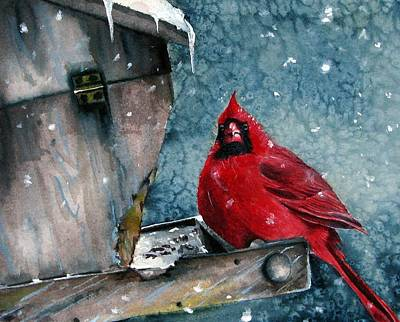Poster featuring the painting Winter Chills by Margit Sampogna