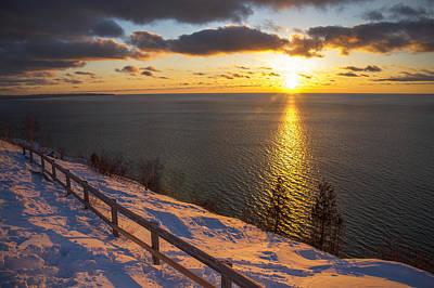Winter Cliffs On Lake Michigan Poster