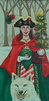 Winter Colonial Poster by Beth Clark-McDonal
