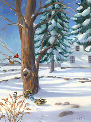 Winter Day Poster by Janet  Zeh