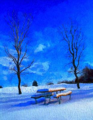 Winter Day On Canvas Poster by Dan Sproul