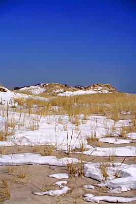 Poster featuring the photograph Winter Dunes Fire Island by Karen Silvestri