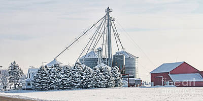 Winter Farm  7365 Poster by Jack Schultz