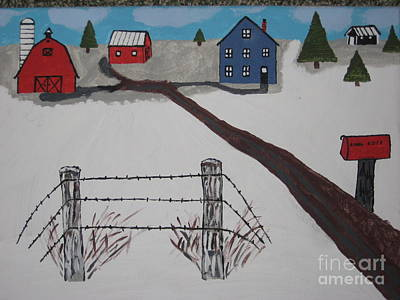 Poster featuring the painting Winter Farm by Jeffrey Koss