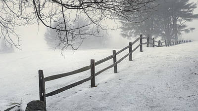 Winter Fence Poster by Bill Wakeley