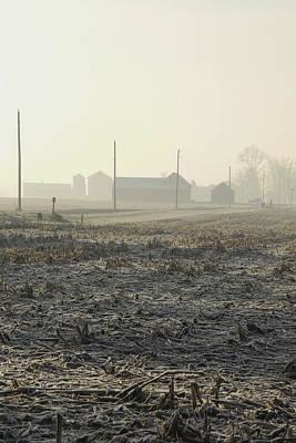 Winter Field Poster by Daniel Kasztelan