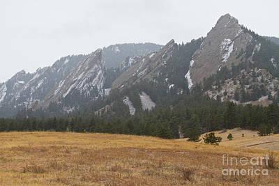 Winter Flatirons Boulder Colorado Landscape  Poster
