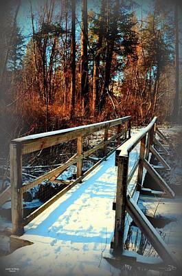 Winter Foot Bridge - Naramata Bc 02-28-2014 Poster