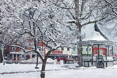 Winter Gazebo Poster by Joann Vitali