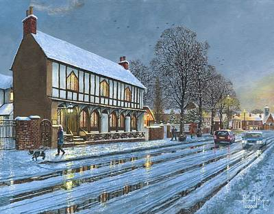 Winter Glow Parish Room Tickhill Yorkshire Poster by Richard Harpum