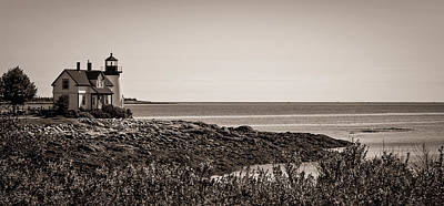 Poster featuring the photograph Winter Harbor Lighthouse by Wayne Meyer