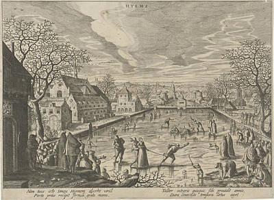 Winter, Hendrick Van Schoel, Justus Sadeler Poster by Hendrick Van Schoel And Justus Sadeler