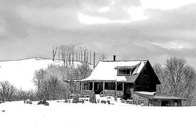 Winter Home Poster by John Haldane