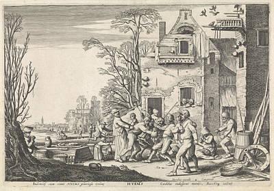 Winter Hyems, Jan Van De Velde II, Hendrick Hondius Poster by Jan Van De Velde (ii) And Hendrick Hondius (i)